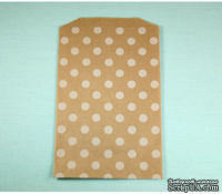 Конвертик White Polka Dot Middy Bitty Bags, размер 12,07х19,05 см, 1 шт.