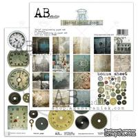 "Набор бумаги от ABstudio - ""Behind closed doors""- scrapbooking paper set 8x 30х30см + bonus"