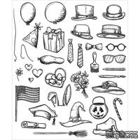 Штампы Stampers Anonymous - Tim Holtz - Crazy Things Stamp Set