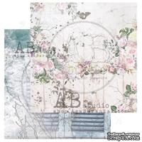 "Лист скрапбумаги от ABstudio - Scrapbooking paper ""Shabby love symphony""- sheet 1 - 30х30см - ScrapUA.com"