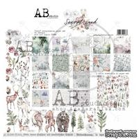 "Набор бумаги от ABstudio - ""Secret wood""- scrapbooking paper set 8x 30х30см + bonus"