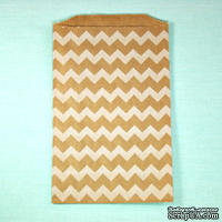 Конвертик White Chevron Middy Bitty Bags, размер 12,07х19,05 см, 1 шт.