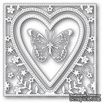 Ножи от Memory Box - Butterfly Heart Frame craft die - ScrapUA.com