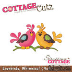 Лезвие CottageCutz - Lovebirds, 10х10 см - ScrapUA.com