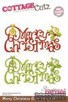 Лезвие CottageCutz Merry Christmas Greeting, 10х15 см - ScrapUA.com