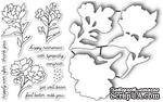 Набор ножей и штампов от Poppystamps - Peony Stems and Blossoms - ScrapUA.com