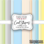 Набор скрапбумаги Cool Stripes, 30,5x30,5см, Фабрика Декору - ScrapUA.com