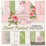 Набор скрапбумаги LemonCraft - Heart Painted, 15х15 см - ScrapUA.com
