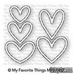 Лезвие My Favorite Things - Die-namics Lots of Hearts Outlines - ScrapUA.com
