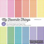 Набор бумаги My Favorite Things - Tiny Check Brights Paper Pack, размер 15х15 см, 24 листа. - ScrapUA.com