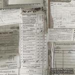 Ткань 100% хлопок - Tim Holtz Eclectic - Documentation-Taupe, 45х55 см - ScrapUA.com