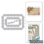Ножи от Spellbinders - Shapeabilities Thinking of You Scalloped Rectangle Etched Dies Thoughtful Expressions by Marisa Job - ScrapUA.com