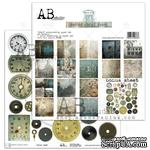 "Набор бумаги от ABstudio - ""Behind closed doors""- scrapbooking paper set 8x 30х30см + bonus - ScrapUA.com"