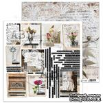 "Лист скрапбумаги от ABstudio - Scrapbooking paper ""Rustical journey"" sheet 6- Fell it - 30х30см - ScrapUA.com"